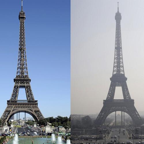Luchtvervuiling Parijs