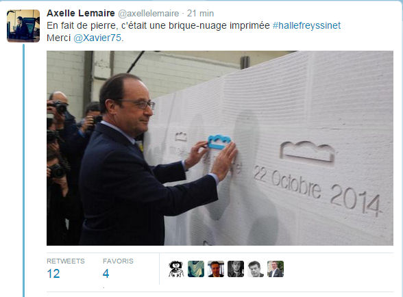 Twitter Hollande Halle Freyssinet