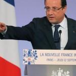 François Hollande door het stof