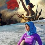 De Boerkini of de Marianne met blote borsten