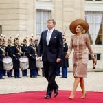 Koninklijk paar op bezoek in Frankrijk